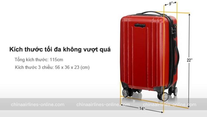 Quy định kích cỡ của China Airlines